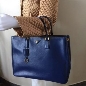 PRADA Saffiano Leather Lux Hand Bag